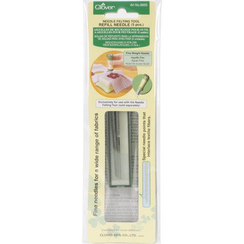 Clover Felting Needle Tool Refill Fine Weight 5/Pkg-