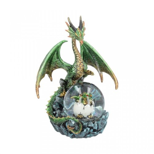 Nemesis Now Emerald Oracle 19cm Green Dragon With Crystal Ball Statue Figure