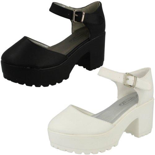 Girls Spot On Platform Block Heels