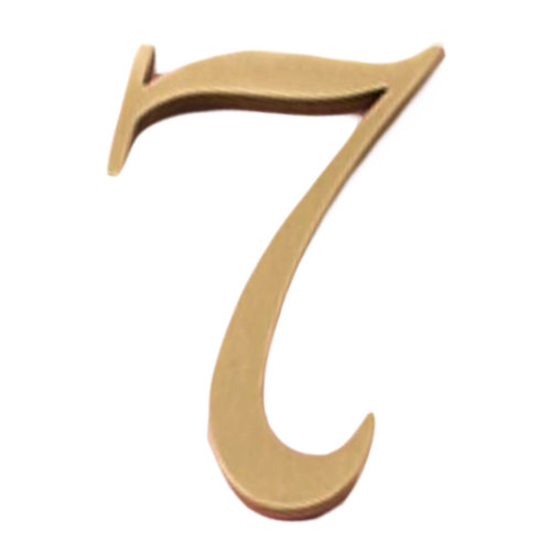 DIY Decorative Brass House Number Wall Decor Address Numbers for House, 2 Pcs Number 7