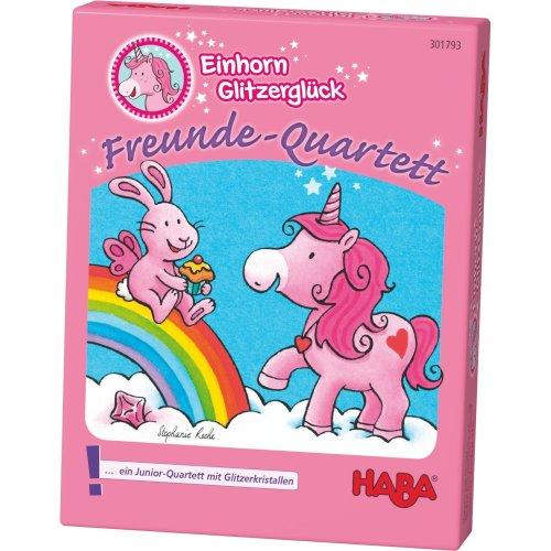 Haba 301793 Unicorn Glitter Luck Quartets Game