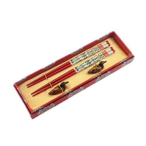 2 Boxes of Chinese Chopsticks Business Gifts Birthday Gift, Calligraphy