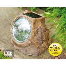 Solar Rock LED Spotlight Rechargeable Outdoor Home Garden Lawn Patio Path NEW