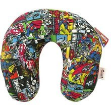 Official Superman U-neck Childrens Travel Cushion Comic Strip Design -  official superman uneck childrens travel cushion comic strip design