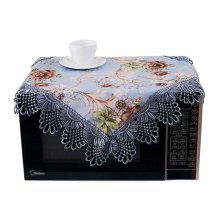 Beautiful Floral Print Microwave Oven Dust Cover Dustproof Cloths