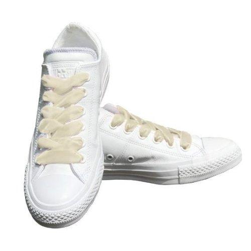 Cream Velvet Ribbon Shoelaces Ideal For Converse Vans