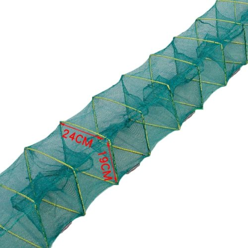Fishing Net Baits Cast Mesh Trap for Small Fish Shrimp Crayfish Crab 2.1m - 6 Holes