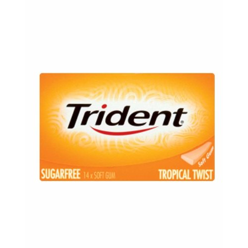 12pc Trident Sugar Free Tropical Twist Gum - UK Version