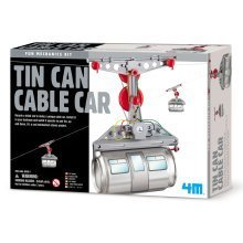 Tin Can Cable Car - 4M Children's Mechanic Set