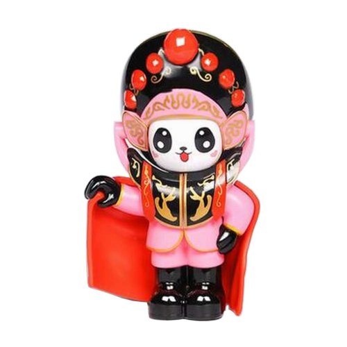 Chinese Opera Face Changing Doll Sichuan Opera Figure Toy, Cloak, Pink