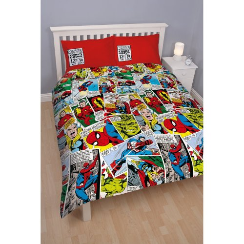 Marvel Character World 91 cm Double Disney Comics Justice Rotary Duvet Set, Multi-Colour