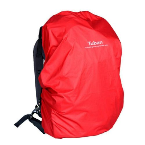 Outdoor Riding Backpack Rain Cover Waterproof Backpack Cover-40 L Red