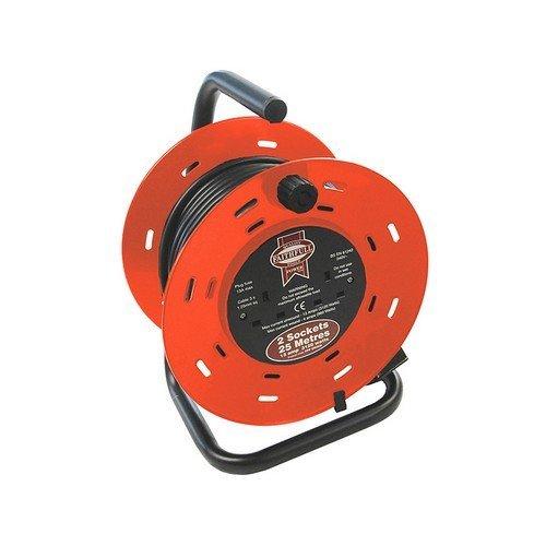 Faithfull FPPCR25M Cable Reel 25 Metre 13 Amp 230 Volt