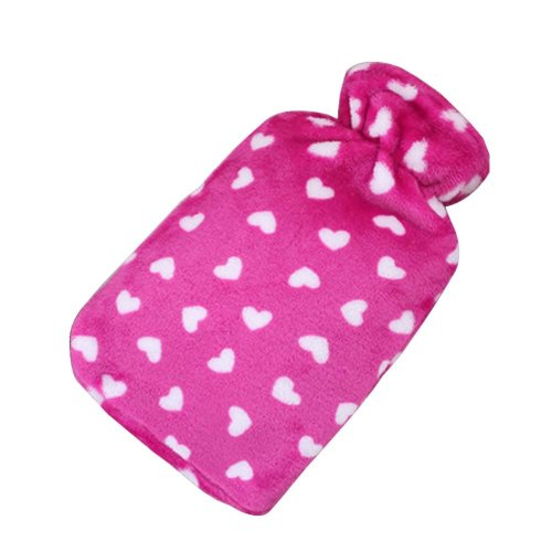 [Red-1] Big Hot Water Bottle Cute Hot Water Bag Hot Water Bottle With Cover