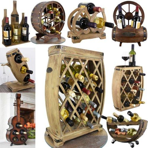 Wooden Freestanding Wine Rack Bottle Holder