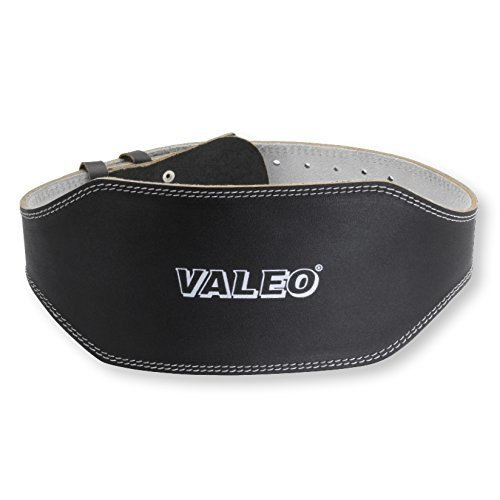Valeo Leather Lifting Belt Black Medium 6 Inches