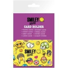 Smiley World Pattern Travel Pass Card Holder