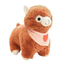 "Plush Doll for Kids Plush Toy Stuffed Alpaca Plush Lamb with Pink Scarf 12.2""(H)"