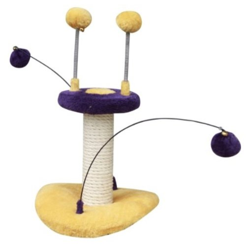 Zippy - PetPals Cat Toy With Teaser, 10x10x10""