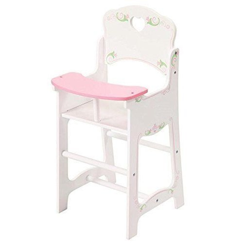 Dolls White Wooden High Chair