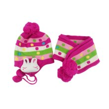 Baby Winter Hat&Scarf Warm and Lovely Baby Cap&Scarf, Style 4