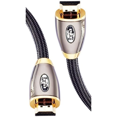 HDMI Cable 1M(2 Pack) High Speed PRO GOLD HDMI Cable v2.0/1.4a 3D 2160p PS4 SKY HD 4K@60Hz Ultra HD Ethernet Audio Return Virgin BT - IBRA RED