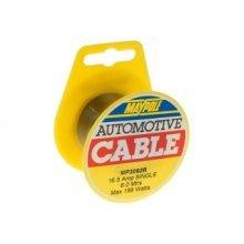 6m Mini Black Single Cable Reel 1x 1mm ² 8amp - ² Maypole Mp3092b Towing - 6m Mini Reel Single Black Cable 1x 1mm² 8amp Maypole Mp3092b Towing