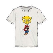 Super Mario Bros. Mario Breaking Block Mens T-Shirt XL White TS500230NTN-XL