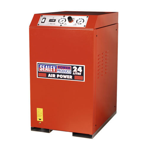Sealey SAC82425VLN 24ltr Low Noise Cabinet V-Twin Compressor 2.5hp