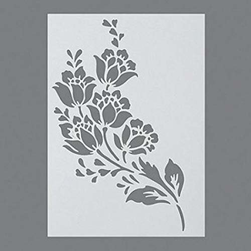 Efco Flowers Stencil in 1 Design, Plastic, Transparent, A4