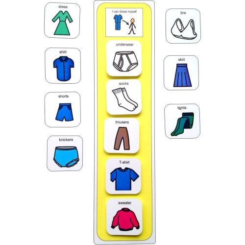 Visual Getting Dressed Schedule AAC (Picture Communication Symbols)