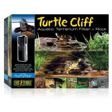 Exo Terra Turtle Cliff Aquatic Terrarium Filter & Rock Large