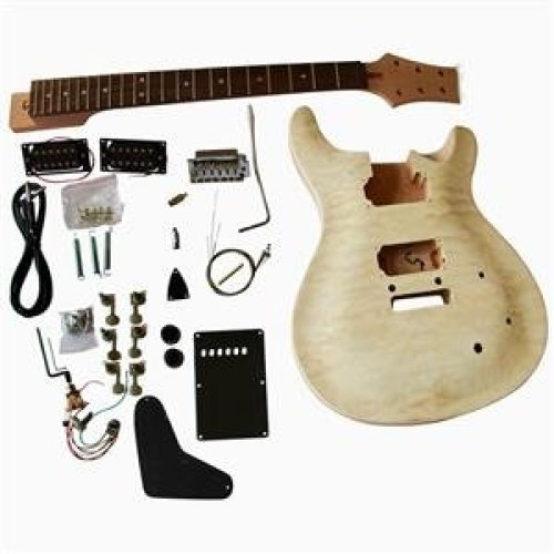 Mahogany body with Quilted Maple veneer GD820 Top Electric Guitar DIY Kit SET-IN