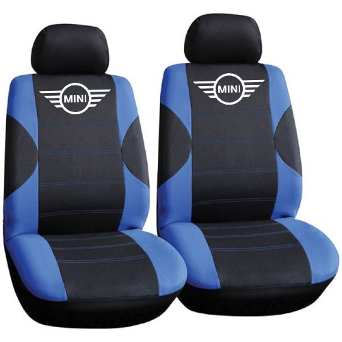 Mini Cooper Logo Car Seat Covers, Only Front