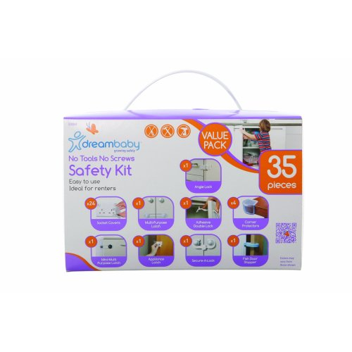 Dreambaby No Tools No Screws Safety Kit Uk - Value Pack 35pcs (White, 35 Pieces)