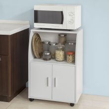 SoBuy® FRG241-W, Kitchen Microwave Shelf Storage Trolley Cabinet Cupboard