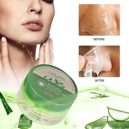 Luckyfine Aloe Vera Peel-off Mask Deep Cleansing Face Mask Blackhead Remover