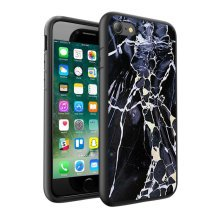 i-Tronixs - Black White Grey Marble Design Printed Case Skin Cover - 017