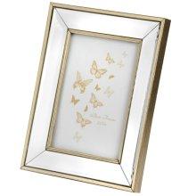 Rectangle Mirror Bordered Photo Frame -  rectangle mirror bordered photo frame