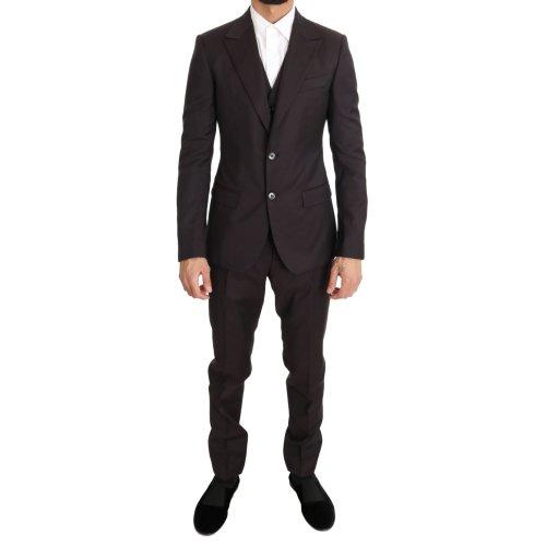 Dolce & Gabbana Bordeaux Wool Slim Fit Two Button Suit