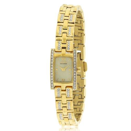 Citizen Eco-Drive Silhouette Swarovski Crystal Ladies Watch EG2352-52P