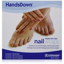 Graham Handsdown Soak-Off Gel Nail Wraps, 100 Count