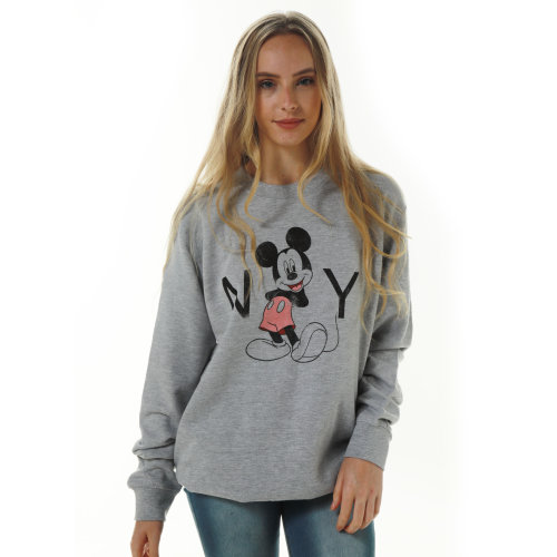 Disney Mikey Mouse New York  Ladies Jumper Grey