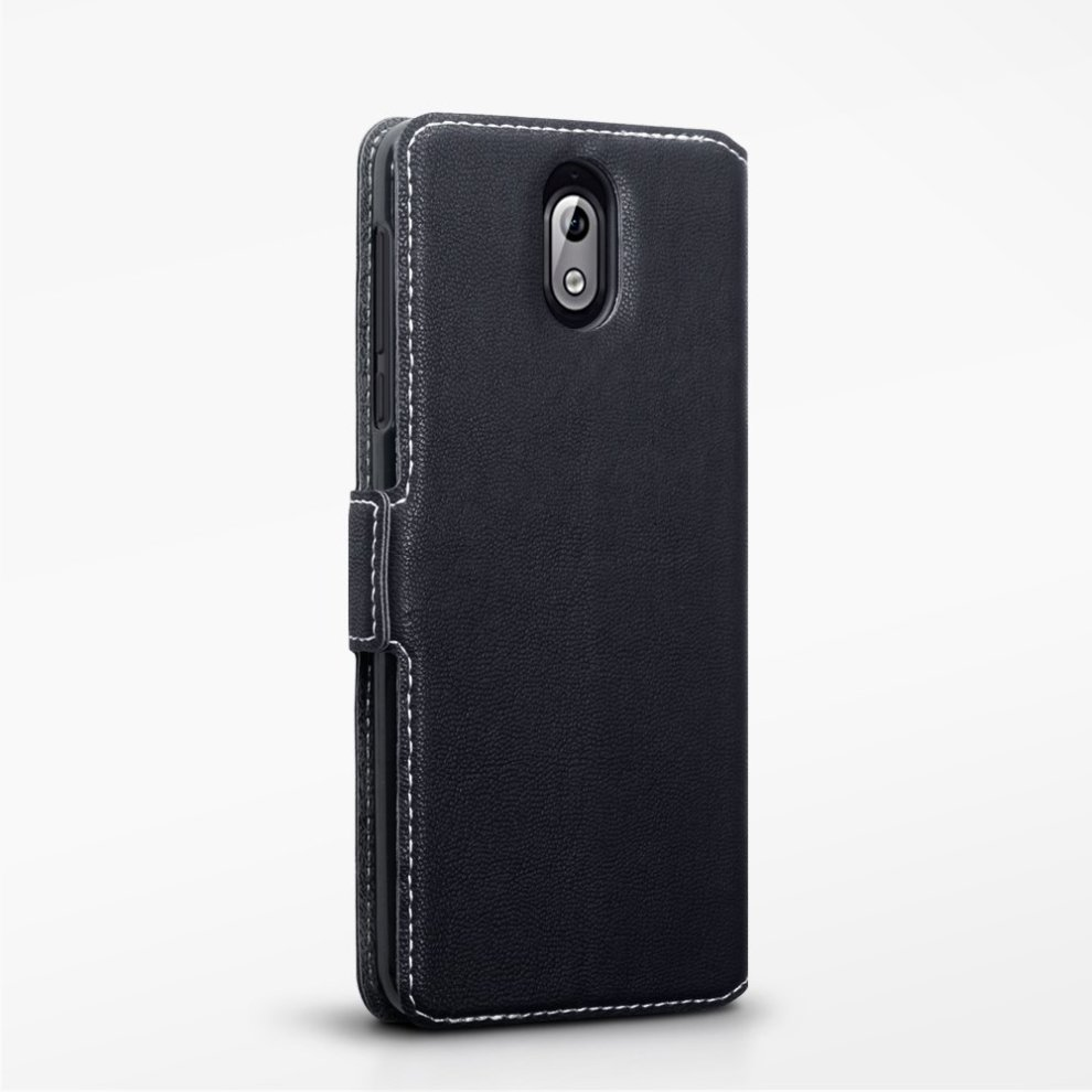 new concept 857f6 28f74 TERRAPIN Nokia 3.1 Case Nokia 3.1 Leather Case Wallet Flip Cover - Ultra  Slim Fit - Viewing Stand - Card Slots - Black