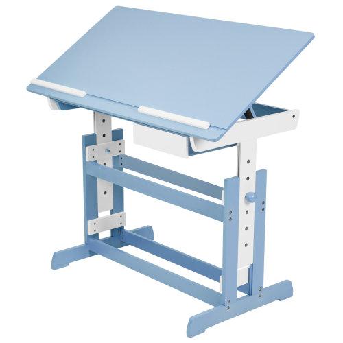 Children's desk with drawer blue