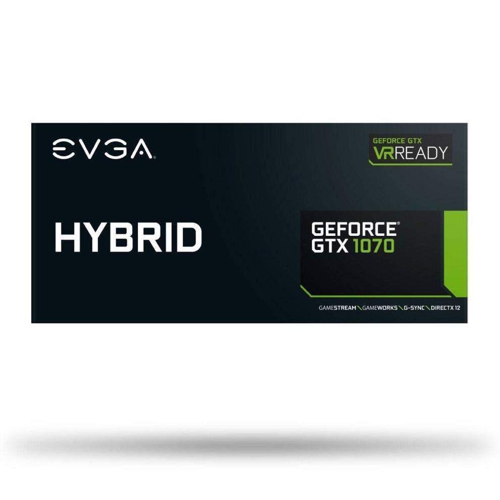 EVGA GeForce GTX 1070 HYBRID GAMING, 8GB GDDR5, LED, All-In-One