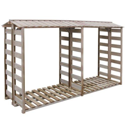 vidaXL Firewood Storage Shed 300x100x176cm Impregnated Pinewood Timber Cabin