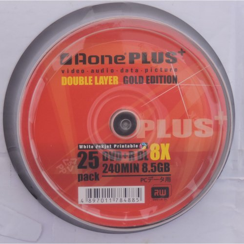 Aoneplus Double Layer (DVD+R DL) Gold Edition White Inkjet Printable 8x