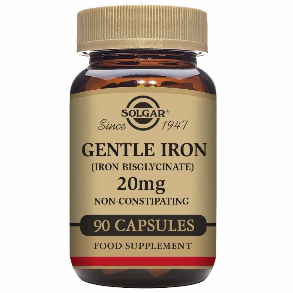 Solgar Gentle Iron 20 Mg Vegetable Capsules - Pack Of 90