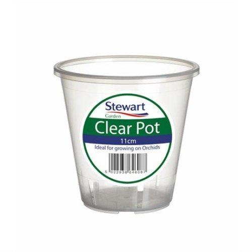 Stewarts Garden Clear Plant Pots - 11cm (2646008)